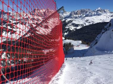 Protezione e delimitazione per piste da sci